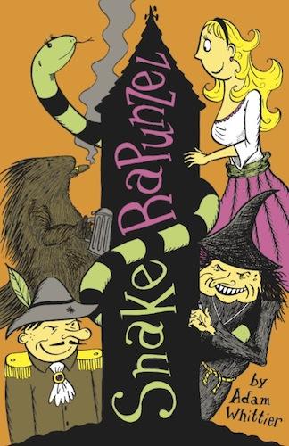 "Children's book illustration. The front cover of ""Snake Rapunzel."""